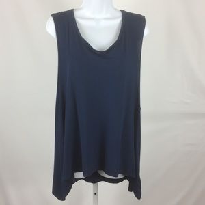 Painted Threads Nordstroms Shirt High Low  Blue L